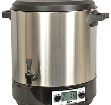 Robby - steri pro inox xl lcd - Stérilisateur électrique lcd avec robinet et minuteur 31l 2000w inox