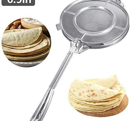 yummyfood Presse À Tortilla, Appareils pour Quesadillas Et Tortillas en Aluminium Tortilla Chauffe pour Les Crêpes, Les Tartes, Les Rotis, Les Raviolis, 6,5 Pouces