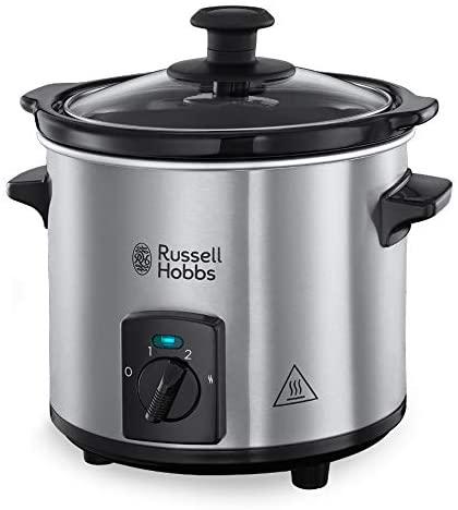 Russell Hobbs Mijoteur Electrique Programmable, Couvercle Verre, Cuve Amovible Céramique, Nettoyage Facile - 25570-56 Compact Home