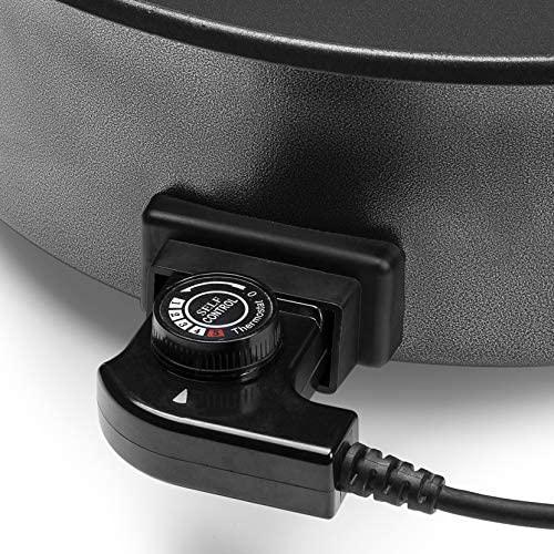 Tristar Sauteuse électrique Multifonction XL, 30cm de Diamètre, Thermostat réglable, Noir