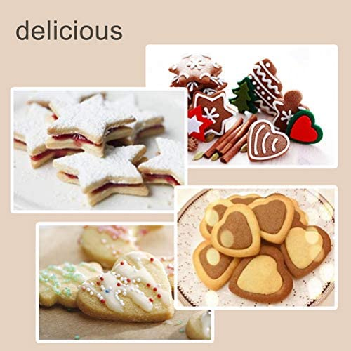 Yuanzi Lot de 12 Emporte Piece Patisserie, Emporte-Pièces Moule à Biscuits Cookie Pâtisserie en Acier Inoxydable - Forme de Cœur Étoile Cercle Fleur