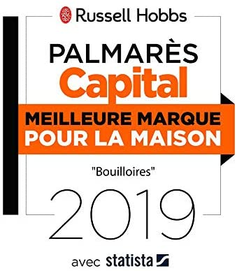 Russell Hobbs Bouilloire de Voyage 0,85L 1000W, 2 Tasses et Cuillères Incluses - 23840-70 Travel