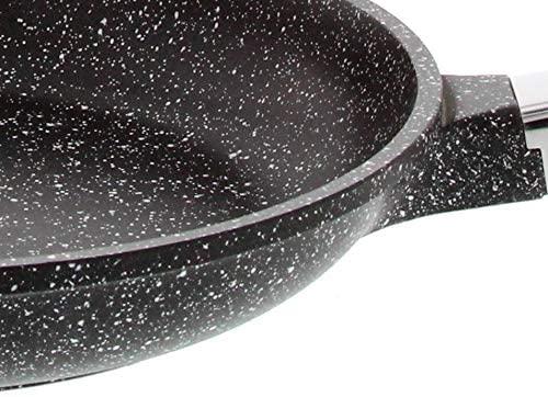 """Pradel Excellence - 52408M - Poêle 24 cm """"Façon Pierre"""" en Fonte Aluminium, tous Feux dont Induction"""
