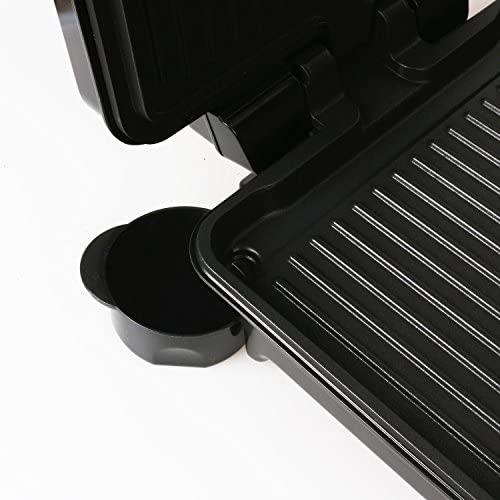 Aigostar Calore 30HHK - Grill Viande Panini Multifonction 1800W, Appareil Panini Revêtement Antiadhésif, intensité réglable et ouverture à 180º, monture froide