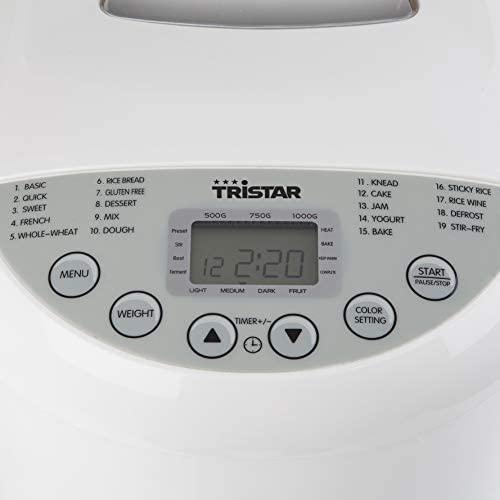 Machine à pain Tristar BM-4586– Brunissage réglable – Programme sans gluten