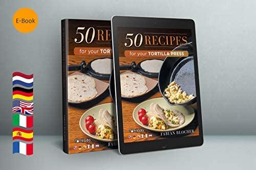 Tortillada Presse-tortilla en fonte avec recettes Ebook en français (20cm)