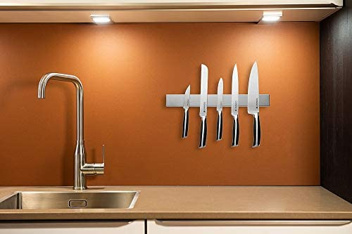 Barre à couteaux aimantée de 40 cm de marque Coninx - Bandeau magnétique de suspension pour couteaux en acier inoxydable/inox - Porte-Couteaux Magnétique - Support Range Couteaux