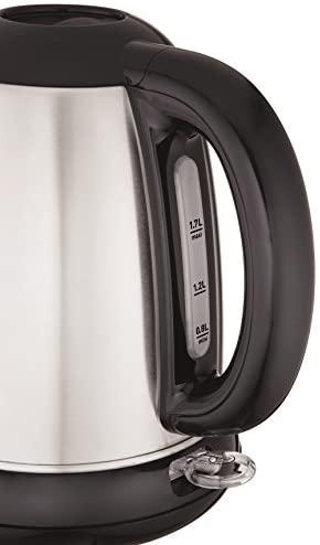 Moulinex BY540D10 Bouilloire Électrique sans Fil Subito Inox Noir 1,7L 2400W