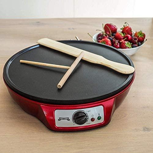 Gadgy ® Crêpière Appareil a Crepe 1000W   30cm Diamètre   Plaque Antiadhésive   Température Réglable   Râteau et Spatule Inclus   Multi-Usage Crêpes Pancakes Omelettes Blinis Bacon