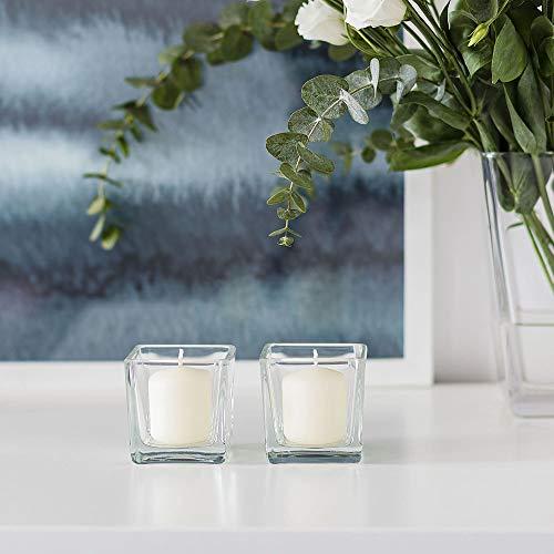 AmazonCommercial Photophore en verre décoratif 109ml Lot de 6 Transparent 70200-6pk