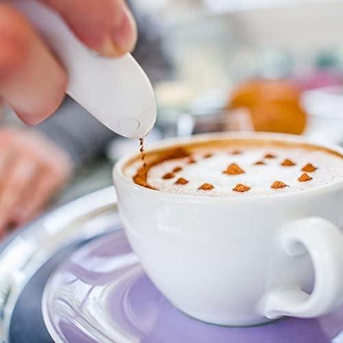 MONODY Stylo pour Décoration Culinaire sur Café Latte Cappuccino Expresso Compatible avec Cacao Sucre Épices - Latte Art Pen - Excellent pour Les Enfants