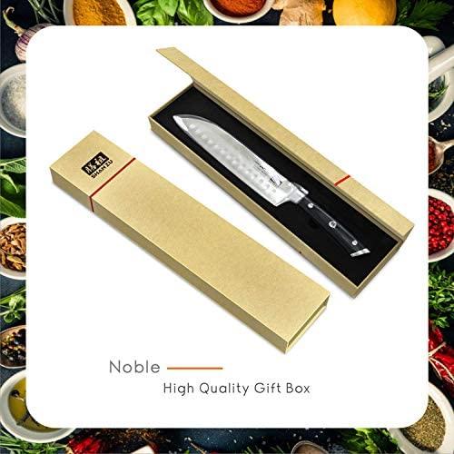 SHAN ZU Couteaux de Chef Santoku German Acier Inoxydable Couteaux de Cuisine - CLASSIC Series