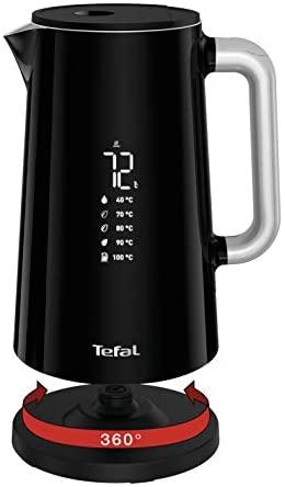 TEFAL SMART N'LIGHT 1.7L noirBouilloire sans fil Thermostat réglable Affichage digital Touche rapide 100° Arrêt automatiqueKO850810