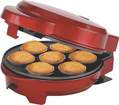 Melissa 16250072 3 en 1 Moule à donut et popcake 3 plaques de cuisson interchangeables Rouge métallique