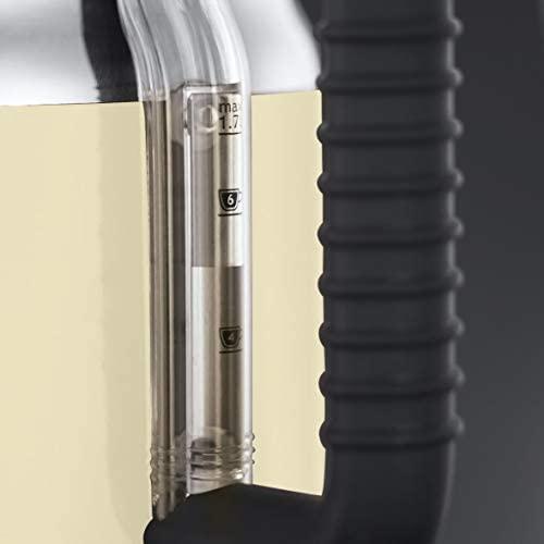 Russell Hobbs Bouilloire 1,7L, Ebullition Rapide, Couvercle Amovible, Design Vintage - Crème 21672-70 Retro