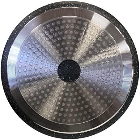 Kamberg - 0008163 - Set Lot Batterie de cuisine 24 pièces - Fonte d'aluminium - Revêtement pierre - Tous feux dont induction - Manche amovible - Sans PFOA