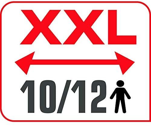 Tefal Plancha Electrique Maxi Plancha XXL 10/12 Personnes Plancha Intérieur et Extérieur Inox CB690D12