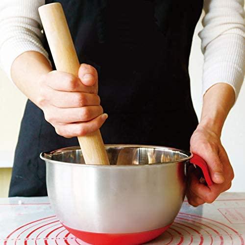 SveBake rouleau à pâtisserie en bois de hêtre - Rouleau à pâtisserie Fondant Rouleau à pâtisserie Rouleau à pâtisserie Parfait pour les boulangers 40 cm