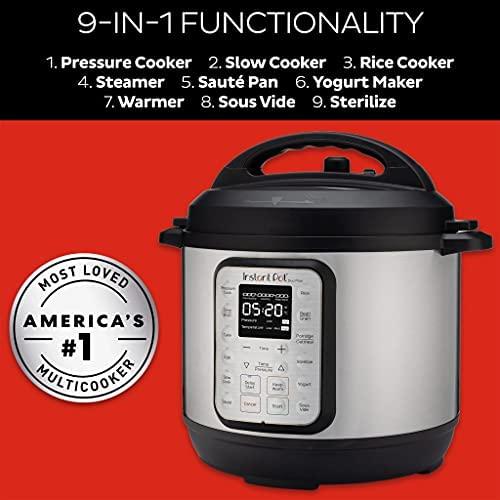 Instant Pot Autocuiseur électrique Duo Plus 5,7 L.15 programmes intelligents: autocuiseur, cuiseur à Riz, mijoteuse, Vapeur