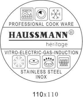 Haussmann Héritage® Couscoussier/Cuit Vapeur/Faitout 3 en 1- INOX-Tous Feux Dont Induction- HM-0850 (12Litre/24cm)