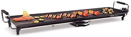 IKOHS TEPPANYAKI TP-XL - Plancha grill style japonais, plancha à griller électrique, cuisine égale, sur toute la surface, 100 x 22 x 13 cm, antiadhésif, thermostat, 1800 W