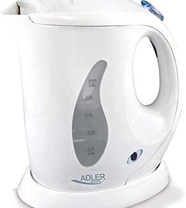 Adler HKK00186 AD 02 Bouilloire électrique, 760 W, 0.6 liters, Blanc