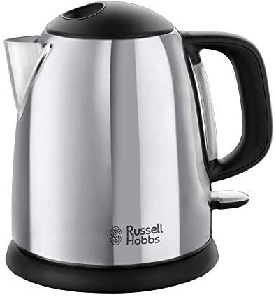 Russell Hobbs Bouilloire 1L, Ebullition Rapide, Marquage Tasses, Ouverture Facile, Design Compact - 24990-70 Victory