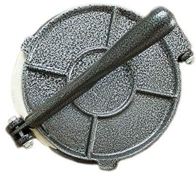 Moule à tortilla 20,3 cm pliable pour restaurant, maison, cuisine, salle à manger, Mexique DIY Presse avec poignée Moule à pâtisserie Outil de pâtisserie en aluminium